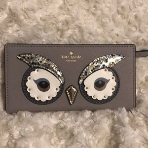 NWT Kate Spade Owl Stacy Wallet